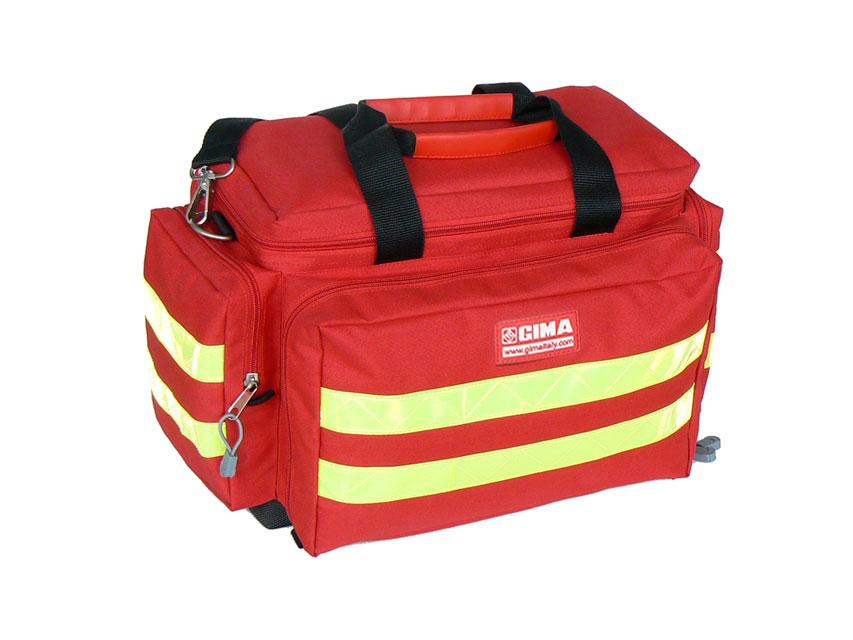 Borsa Smart rossa emergenza primo pronto soccorso 45x28x28 borsone GIMA - Dispositivi Sanitari ...