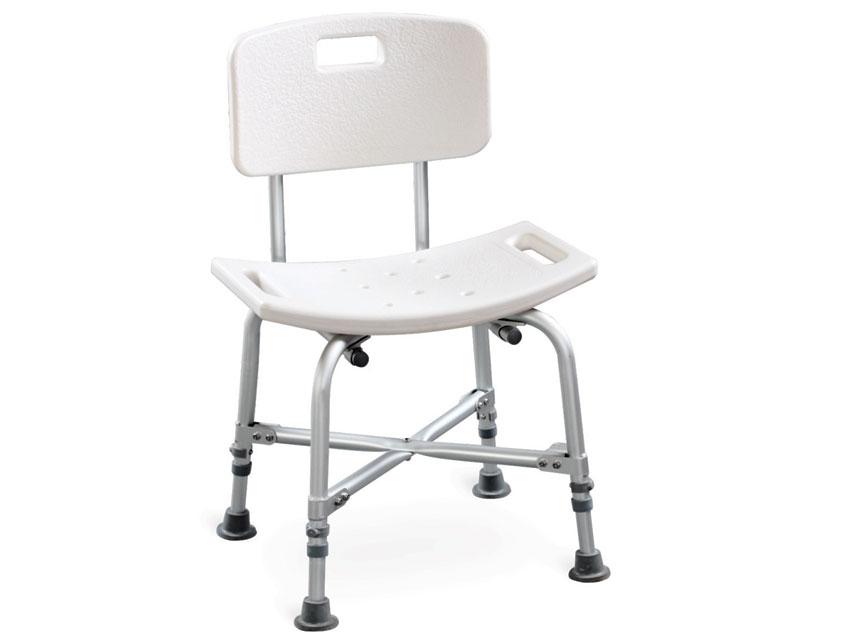 REINFORCED SHOWER CHAIR with backrest - load 150 kg