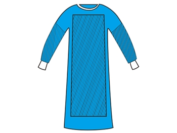 REINFORCED SURGICAL GOWNS 50 g/m2 120x150 cm - size L - sterile