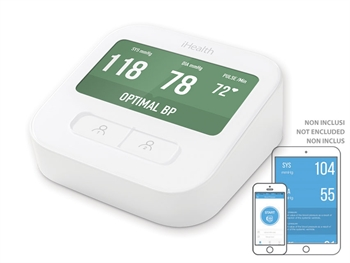 iHEALTH CLEAR SMART ARM BLOOD PRESSURE MONITOR - WI-FI