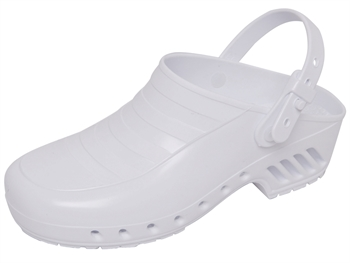 GIMA CLOGS - without pores, with straps - 37 - white