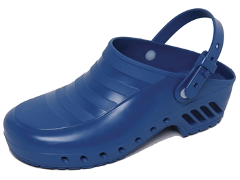GIMA CLOGS - without pores, with straps - 37 - blue