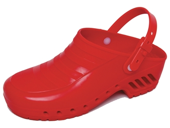 GIMA CLOGS - without pores, with straps - 35 - red