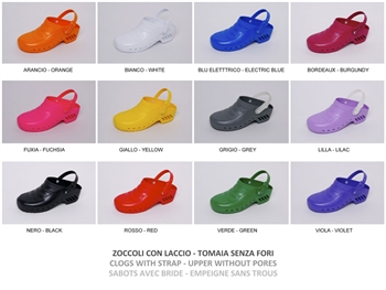 GIMA CLOGS - with/without pores, with straps - colour/size on request