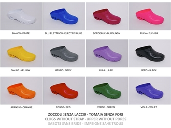 GIMA CLOGS - with/without pores - colour/size on request