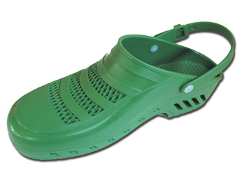 GIMA CLOGS - with pores and straps - 40-41 - green