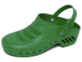 GIMA CLOGS - with pores and straps - 34 - green