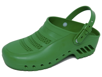 GIMA CLOGS - with pores and straps - 35 - green