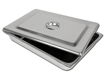 VASSOIO + COPERCHIO INOX - 440 x 320 x 64 mm