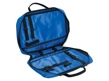 MEDICATION BAG - nylon blue - empty