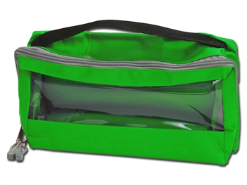 E3 RECTANGULAR BAG padded with window and handle - green