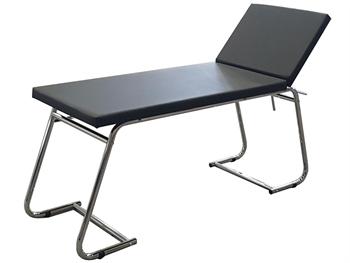 EXAMINATION COUCH - chromed, black mattress