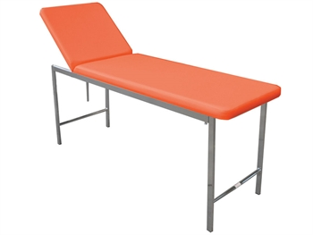 CLASSIC EXAMINATION COUCH - chromed - apricot