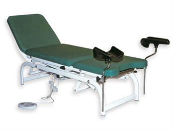 HEIGHT ADJUSTABLE GYNAECOLOGICAL BED - green