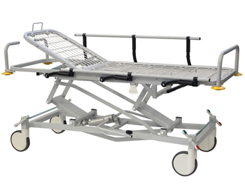 PROFESSIONAL HEIGHT ADJUSTABLE PATIENT TROLLEY with TR and RTR
