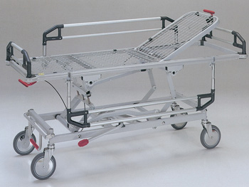 ADJUSTABLE HEIGHT PATIENT TROLLEY with TR and RTR