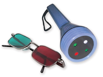 WORTH LED LIGHT TEST with red/green glasses