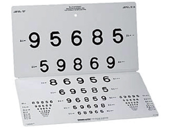 LEA NUMBERS 15-LINE DISTANT CHART - 3 m (10 feet)