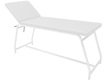 EXAMINATION COUCH load 120 kg - white painted, white mattress