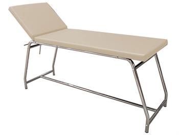 EXAMINATION COUCH load 120 kg - chromed, beige mattress