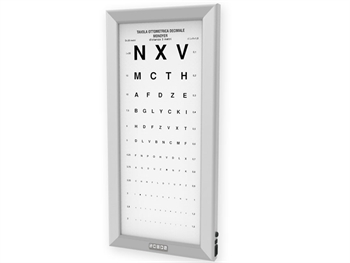 ULTRA SLIM LED OPTOMETRIC CHART - Monoyer