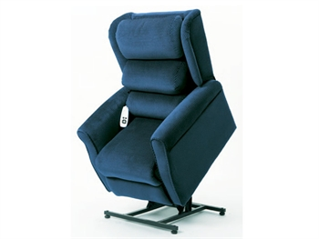 GINEVRA LIFT ARMCHAIR 2 motors - blue