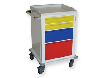 MODULAR TROLLEY - painted steel with 2 + 1 + 1 drawers