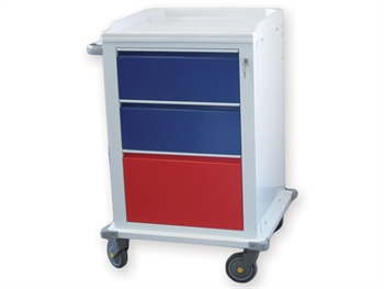 MODULAR TROLLEY painted steel with 2+1 drawers