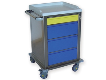 MODULAR TROLLEY stainless steel with 1+3 drawers
