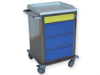CARRELLO MODULARE - inox - 1 + 3 cassetti