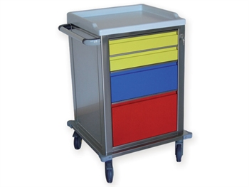 MODULAR TROLLEY stainless steel with 2+1+1 drawers