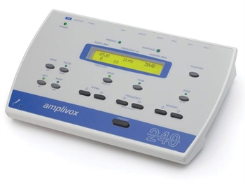 AMPLIVOX 240 DIAGNOSTIC AUDIOMETER - air, bone, mask conduction