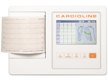 "CARDIOLINE ECG100L BASIC - 5"" colour touch screen"