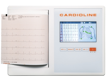 "CARDIOLINE ECG200L FULL (Glasgow +EasyApp) - 7"" colour touch screen"